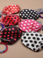 Spotty purse with hair elastics (Code 1937)